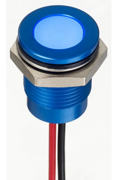14 mm Flush Anodised Aluminium IP67 LED Indicator